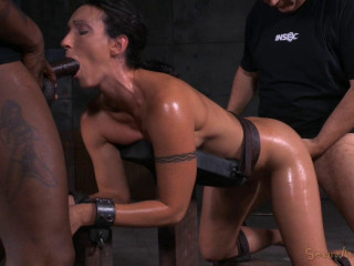 Wenona belted in strict restrain bondage