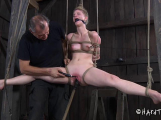 Tight bondage, domination, hogtie and torture for young bitch