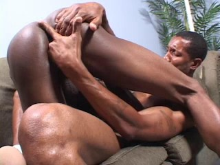 Young Black and Bareback