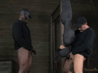 India Summer mummified & suspended upside down, brutal blindfolded deep throat!