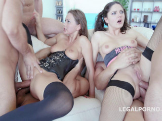 Animal Gangbang With Double Anal For Francesca Dicaprio & Tina Kay