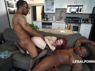 Violet Monroe In Double Anal Adventure With Huge Black Dicks