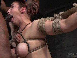 tited tits and strict challenging bondage!