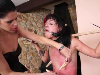 Slavegirl Cary & Mistress Karina Carys Fierce Teaching