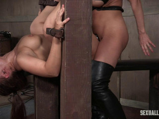 Gabriella Paltrova is back and bearing under the restrain bondage and cock!