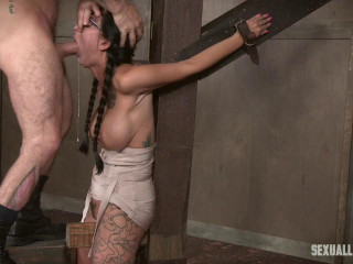 Sexy Bodied Lily Lane gets pummeled from every direction by phat boners