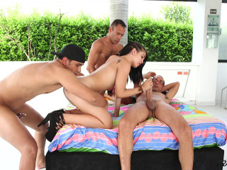 Summer Gangbang For Hot Latin Shemale