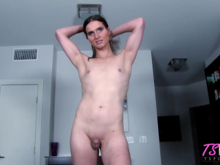 Kezra Knight Amateur Trans Babe Shows Off Her Love Of The D