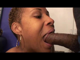Enormous funbag black bi-atch get boned by bbc at bedroom