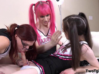 Three Cheerleaders, Three Cumshots