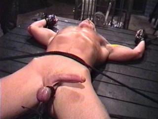 His captor shortly puts his fabulous specimen thru restrain bondage hell