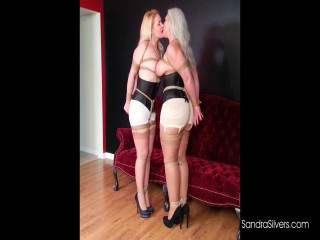 Kissing Lesbian Bondage Dream Turns into Damsel in Distress Reality!