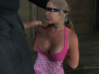 Brutal sexual domination, Category 5 single ankle rope suspension