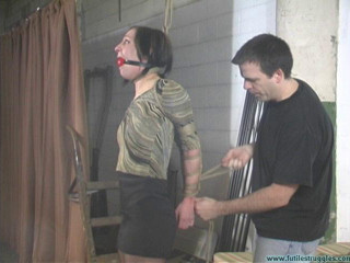 Illustrious Rogue Captured Neckroped Hogtied and Gagged