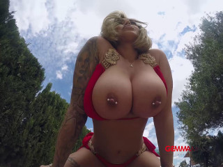 Gemma Massey - In Red Bikini