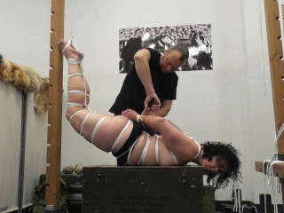 Supertightbondage - Extreme Hogtie in Public for Minuit