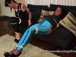 A Tight and Shiny Struggle Nyxon and Brenda Bound