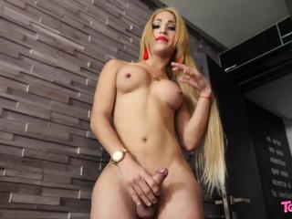 Sexy Blonde Ximena Flores!