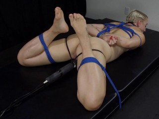 Hogtied, Helpless, And Cumming