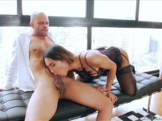Lovely Brunette TS Kalliny Nomura Fucks Her Man
