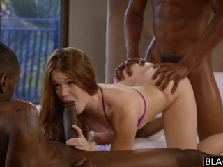 Kimberly Brix - Marvelous Red-headed Lady Hazed Into Doing 2 Ample Big black cock (2016)