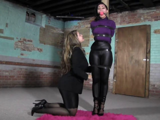 Cock-squeezing bondage, dominance and torment for glorious slavegirl