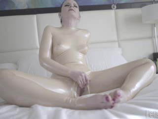 Charlotte beige fresh suit made of latex