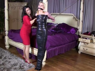 Supah bondage, supremacy and mummification for youthfull mega-slut