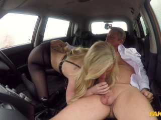 Mature guy fucks blonde bombshell