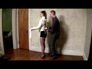 Serene Isley and Kevin White Straight Jacket, Black Tights