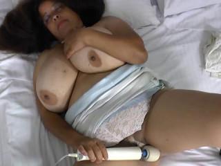 bbw spanish mature rosaly masturbate with big dildo