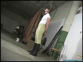 Blue - Equestrian disciplined with tight bondage and a Tighter gag - Part 1