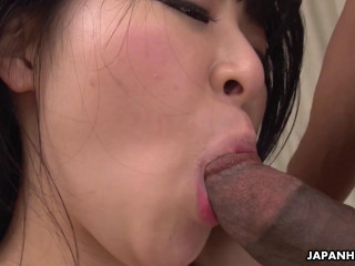 Slutty Satomi Nagase is fucked so good by a black cock FullHD 1080p