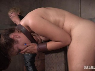Sweet little Ziggy Star is a slimy strap on slut