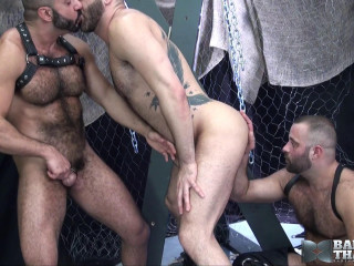 Bareback That Slot - Part 1 - Amir Badri, Marcus Isaacs & Matthieu Angel