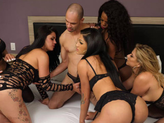 Group sex & Open Bottom For Transsexual Jizm