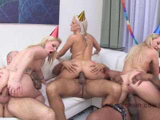 Finest Babes In B-day Ass fucking Gang-bang