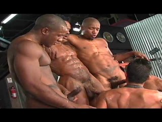 Black Balls In Gangbang Party