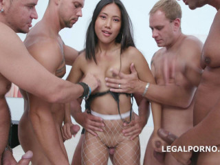 Manhandle Orgy For Skinny Asian Babe May Thai