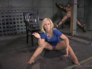 Blonde Milf Simone Sonay worked over hard by 2 cocks