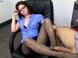 Emma O'Hara is the New Boss -Pantyhose Domination
