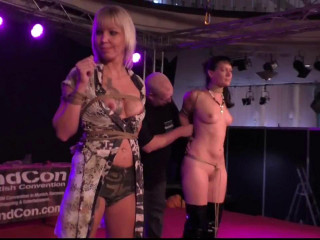 Public Bondage Walk at Venus Fair in Berlin - HD 720p