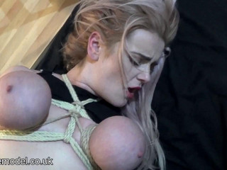 Rich bitch Chanell tits tied