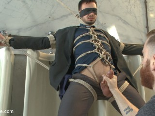 Torn Man Blackmailed into an Edging