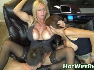 Horny Milfs Sharing Cock