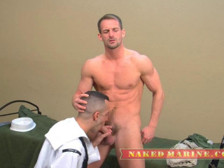 Naked Marines - Private Eryk's First Gay Blowjob