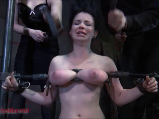 Supah bondage, slapping and torment for highly steamy slavegirl part 2