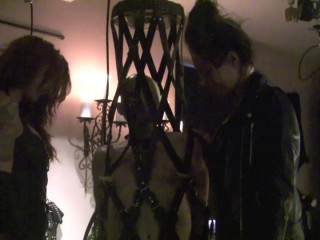 Danishfemdom - Slave in leathercage