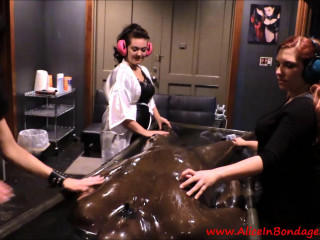 Be Careful What You Wish For - Rubber Vacbed FemDom Foursome