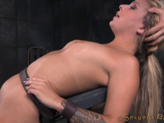 Mind-blowing Blonde Madelyn Monroe Roped On A Sybain And Immensely Ruined By Dick!